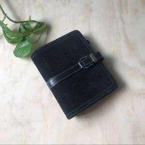Franklin Covey Black Cow suede & Leather Planner